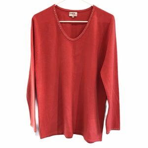 Coral Thea Plus long sleeve sweater size 42